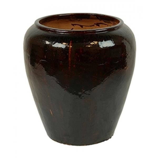 Keramieken bloempot Mystic Middle Black in 2 afmetingen