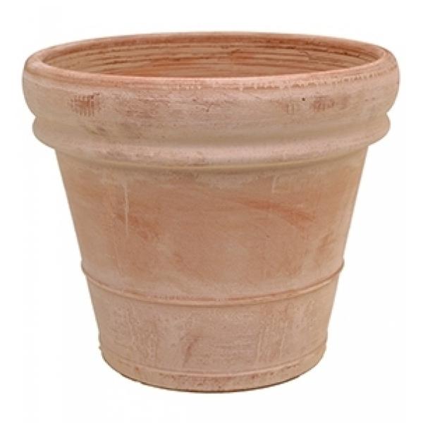 Terracotta plantenbak Doppio Bordo antiek Ø 45 cm