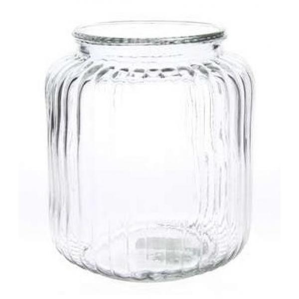 Ribbelvaas van transparant glas Durant