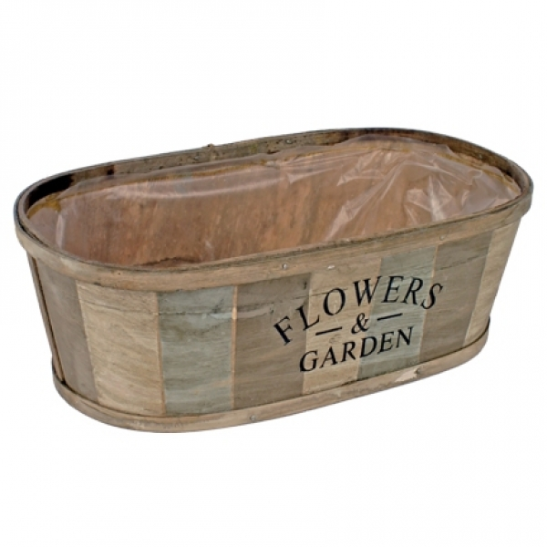 Schaal Flowers & Garden hout