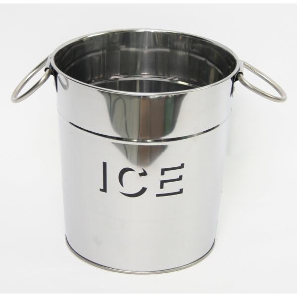 IJskoeler glanzend metaal met tekst ICE