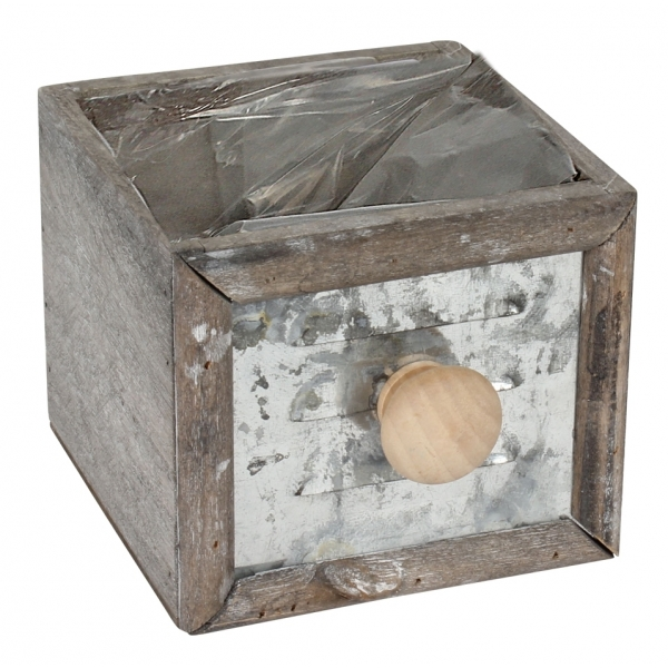 Lade vierkant van hout