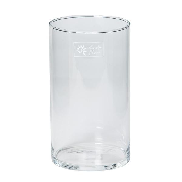 Cilinder vaas glas Ø 9 cm smal in 3 hoogtes