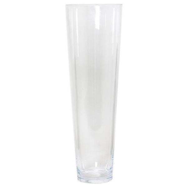 Cilinder vaas glas konisch Ø 18 cm en hoogte 60 cm
