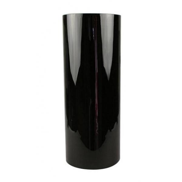 Cilinder vaas zwart glas Ø 19