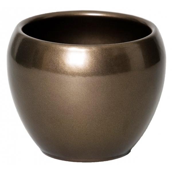 Keramieken bloempot Rian brons Ø 14 cm