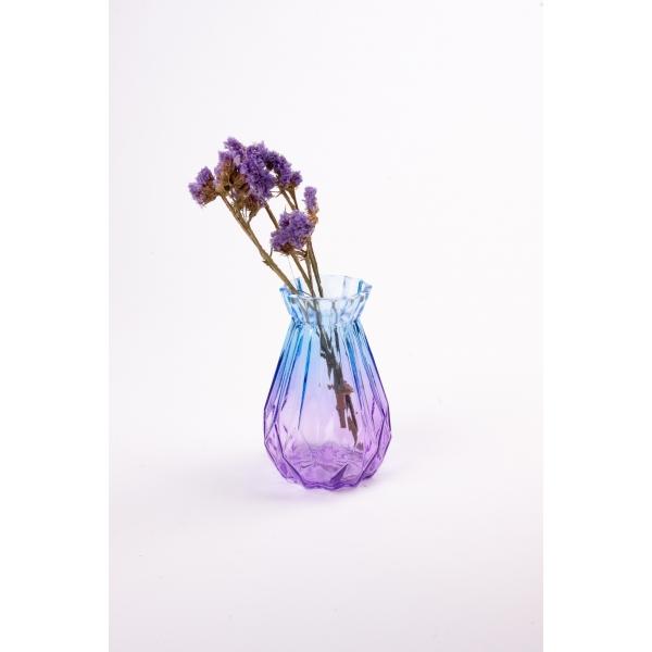 Vaas met twee kleuren blauw/paars 15 cm