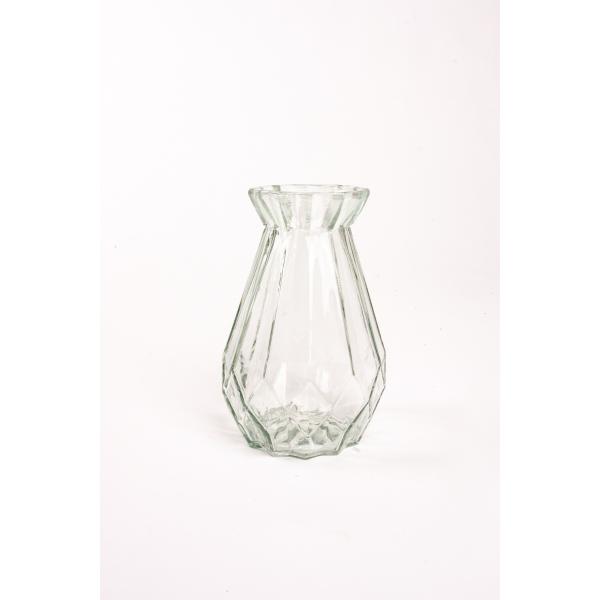 Diamant vaas glas 15 cm