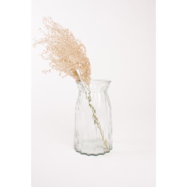 Diamant vaas glas 20 cm