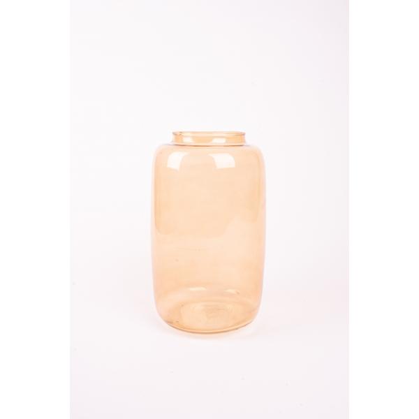 Vaas Pip Oker gekleurd glas 28 cm