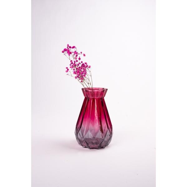 Vaas met twee kleuren rood/grijs18 cm