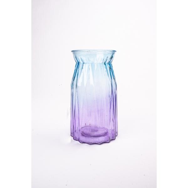 Vaas met twee kleuren blauw/paars 20 cm
