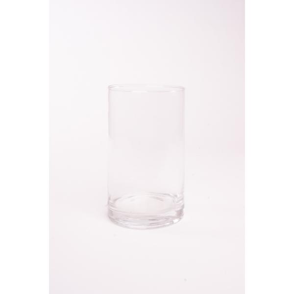Cilinder vaas glas Ø 9 cm met een hoogte van 15 cm