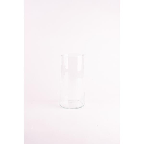 Cilinder vaas glas Ø 15 cm met een hoogte van 30 cm