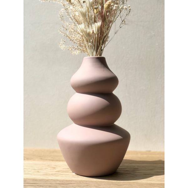 Lavendel roze zachte keramieken vaas